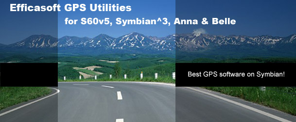 Efficasoft GPS Utilities for Symbian - Best GPS software on Symbian S60v3,